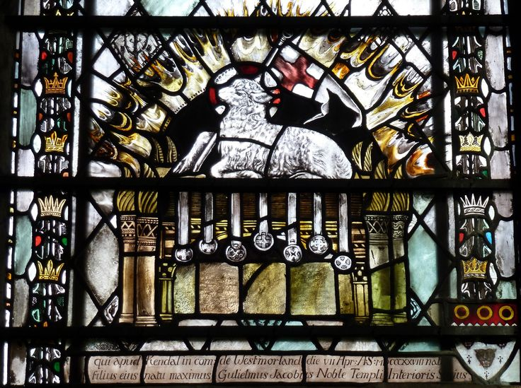 https://flic.kr/p/ny9hr5   Southwell Minster, Nottinghamshire   Southwell Minster, Nottinghamshire.  Memorial window (detail) to John Noble (1828-1896) of Littleover, Derby. By Christopher Whall (1849–1924), 1906 : Detail.