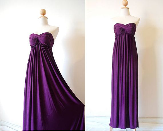 Elegant Purple Evening Dress by pinksandcloset on Etsy, $55.00