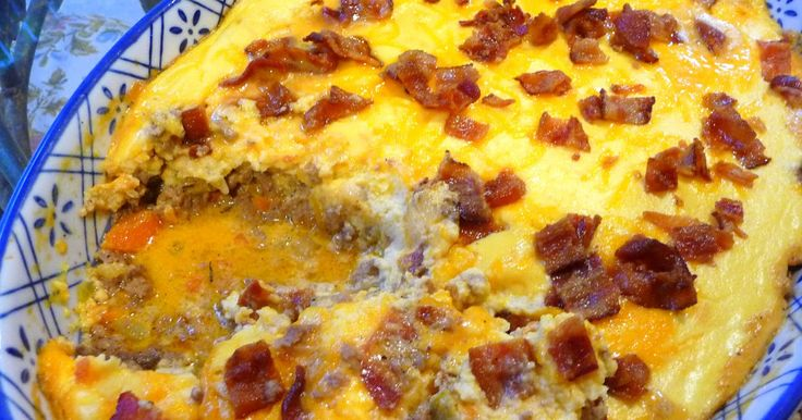 BACON CHEESEBURGER SHEPHERD'S PIE CASSEROLE   This really is the tastiest shepherd's pie I have had low-carb or high-carb!  Try i...