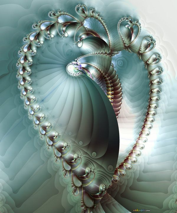 """Fractal Heart"" - How do I love thee? Let me count the ways ~:^)>"