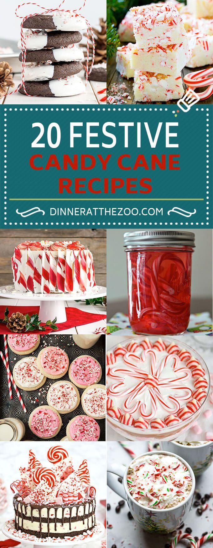 20 Festive Candy Cane Recipes   Christmas Recipes   Holiday Recipes   Peppermint Recipes