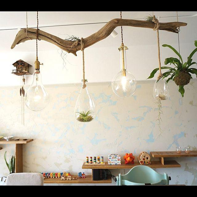 流木インテリアのあるアートな部屋10選