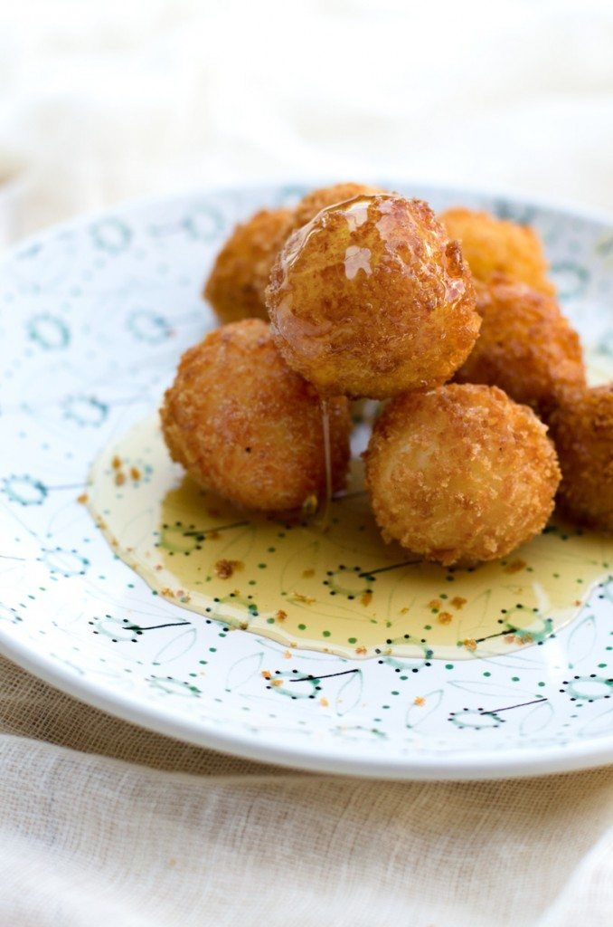 Easy Fried Goat Cheese Balls | @gogogogourmet