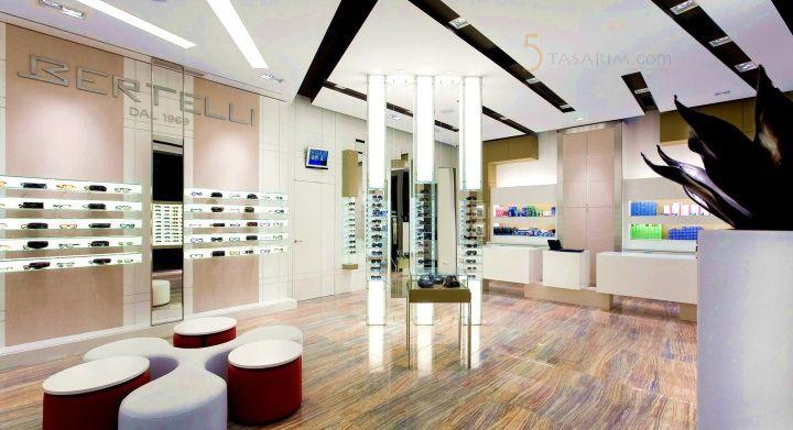 gözlük mağazası dekorasyonu tasarımları