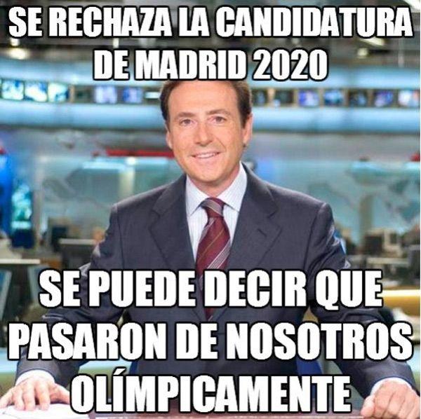 Se rechaza la candidatura de Madrid 2020.Se puede decir que pasaron de nosotros olímpicamente.