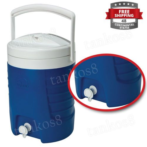 Small-Cooler-for-Drink-2-Gal-Swing-Handle-Easy-Grip-Lid-Blue-Pool-Yard-Garden