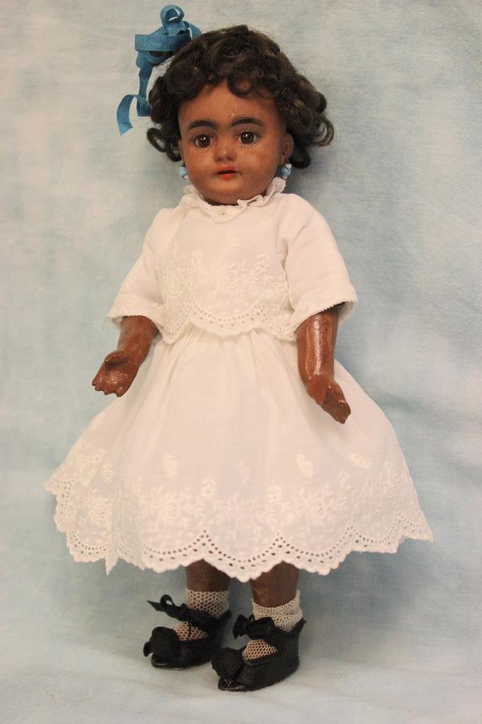 "9"" RARE Antique Black Simon & Halbig 739 DEP German Bisque Doll 1889-1900 Pretty | eBay"