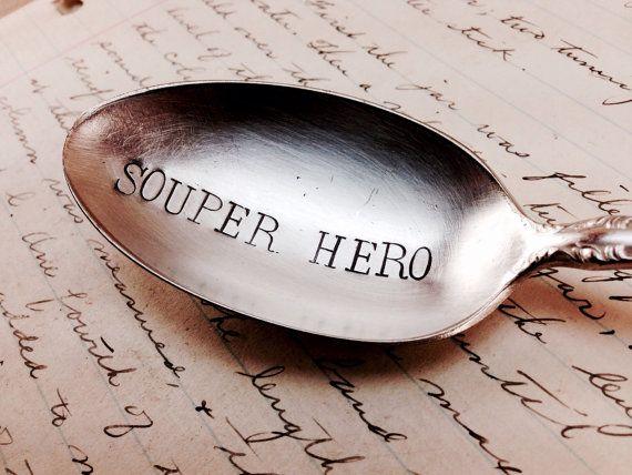 Souper Hero  super hero gift idea  cool comic by aVintageParcel