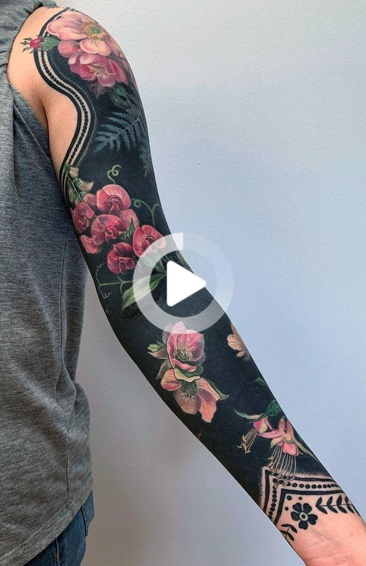 Brilliant coverup tattoos combine blackout ink with
