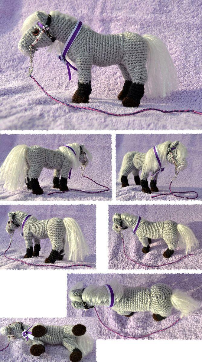 Realistic amigurumi draft horse by mojcaj