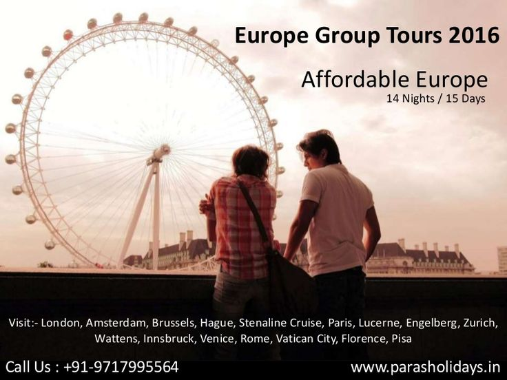 #EuropeGroupTours2016  #AffordableEuropeTours  #HolidayinEurope Paras Holidays offers Affordable Group Tour Packages for Europe 2016 from Delhi India at attractive prices. Book your Europe Tour with our budget packages.