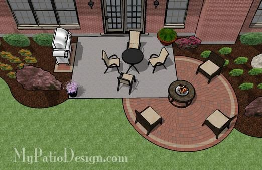 Add a circular part to the patio for more space...