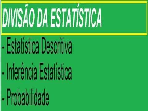 Introdução à Estatística descritiva Inferência ou indução e Probabilidade https://youtu.be/tICCAPjhMH0