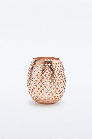 Star Lantern Copper Candle Holder