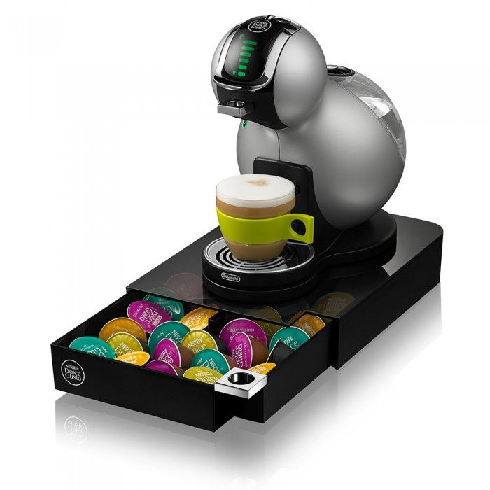 This sleek and compact capsule drawer, is a great way to contain your capsules and  is designed especially for your NESCAFÉ Dolce Gusto machine to sit on top of.