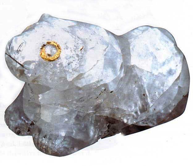 Hittite, rock crystal lion figurine, Kültepe-Kaniş, 1800-1730 BC