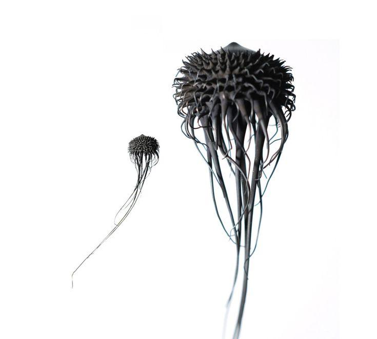 Майлин Нгуен: металлические скульптуры фантастических анималистических и растительных  форм