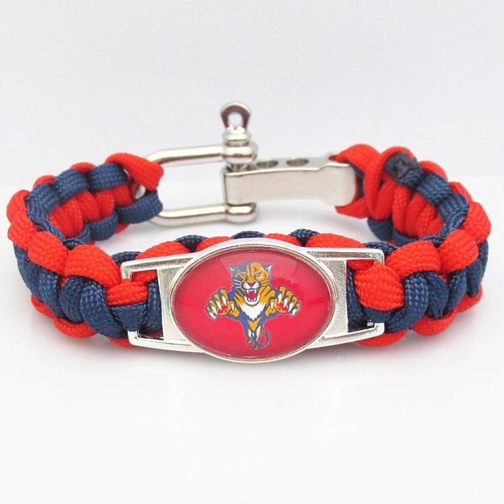 Florida Panthers Hockey Paracord Bracelet Be one of the first to get one of these sporty Paracord Florida Panthers Hockey Team Survival Bracelets. Made with genuine 550 strength parachute cord. Make g