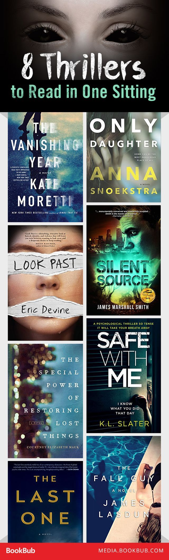 8 Thrillers to Read in One Sitting - 8 thriller books to read in one sitting.