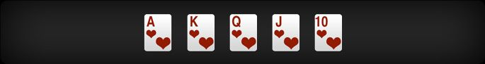 Royal Flush: Ace, King, Queen, Jack and 10 of the same suit. This is the highest ranking hand in standard five-card Poker.