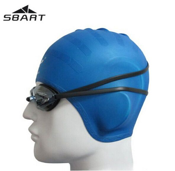 SBART Silicone Swimming Cap Women Waterproof Swimming Caps For Long Hair Gorro Natacion Head To Swim Cap Ear