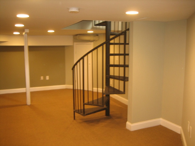 Delightful Spiral Stairs To Finished Basement | Flickr   Photo Sharing!