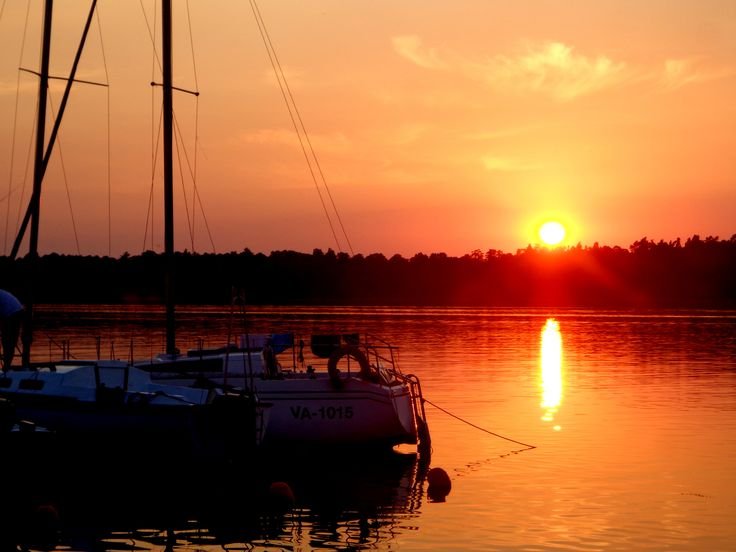 Sunset . Masuria. Poland . Sailing .