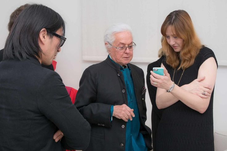 Roberto Capucci with Mote Sinabel Aoki  and Barbara Locatelli