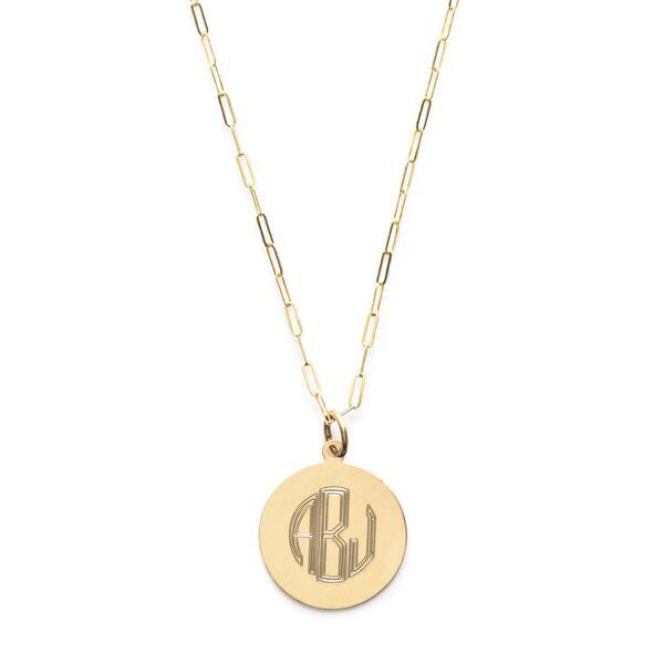 Monogram Circle Necklace from Phyllis   Rosie