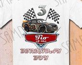 T-shirt Disney Cars DIY Custom Iron On Transfer Printable Tio of the Birthday Boy digital download Personalized Cars Birthday Party shirt