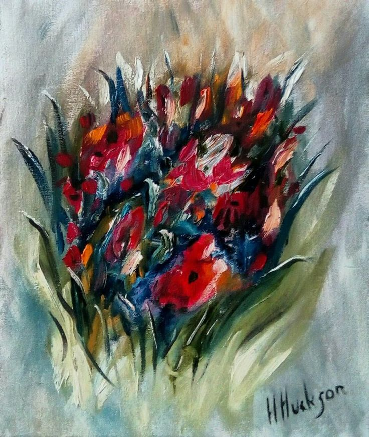 """'Bouquet' Original Oil Painting 12"""" x 10"""""""
