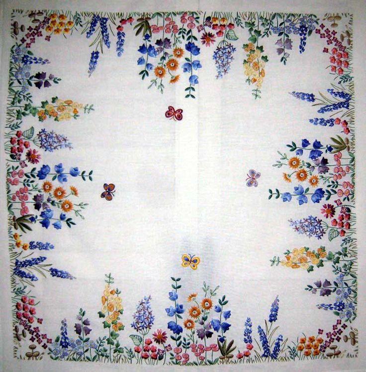 Mão Bordados Chá Pano: Primavera POR Âncora, costurada POR Margaret Cobleigh