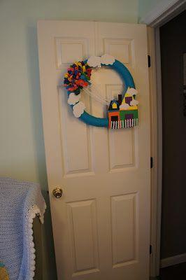 Wreath in a Disney Pixar Up Nursery