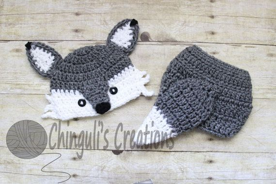 Crochet Wolf Outfit Baby Girl Baby Boy Wolf by Chinguliscreations
