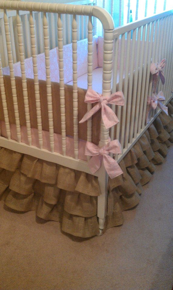 Custom Made to Order Burlap Baby Bedding by ShellyLynnDesign, $275.00