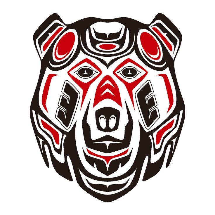I don't really like the 'beard' (word p0rn), but this is awesome!  deviantART: More Like Haida tribal Grizzly by Takihisa