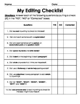 peer editing checklist narrative essay Peer editing checklist for narrative or descriptive essay exchange papers with a partner to answer the following questions be generous with your questions and.