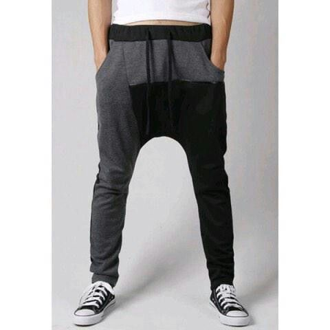 Black and grey joggers