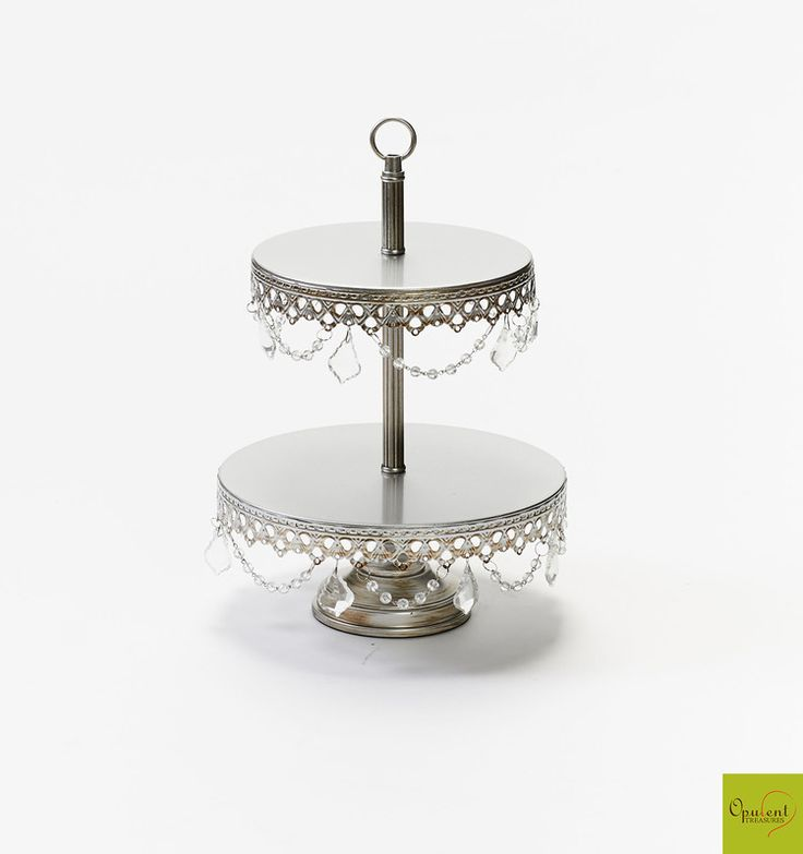 Opulent Treasures Two Tier Cake Stand