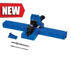 The Kreg Jig® K5 incorporates the best features of every Kreg Jig® that came before with upgrades you've never seen. All-new clamping mechanism that you can adjust without tools or adjusting nuts to match your workpiece thickness. Large support wings to hold your workpiece steady with storage compartments inside. Dust-collection port, spring-loaded stop for the Drill Guide Block,...$139.99