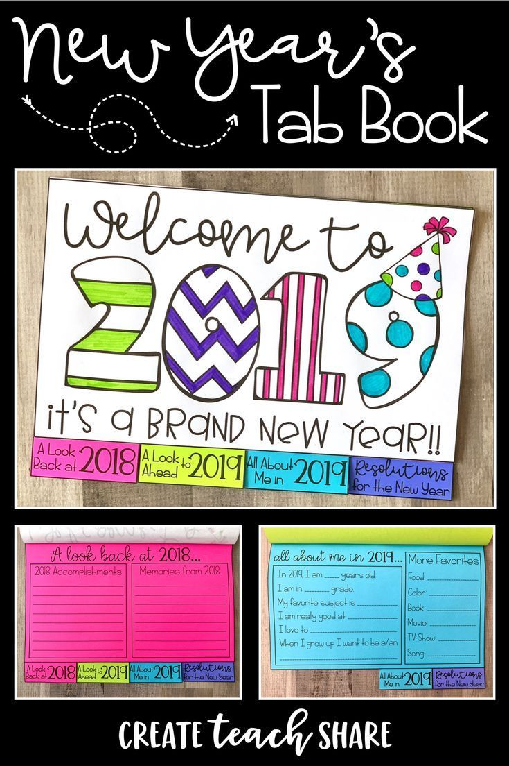 New Year's 2020 Tab Book New years activities, High