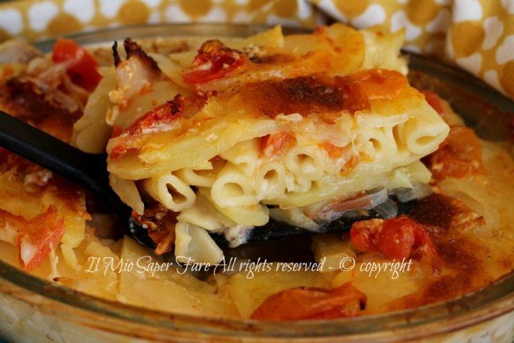 Pasta patate al forno ricetta primo piatto leggero