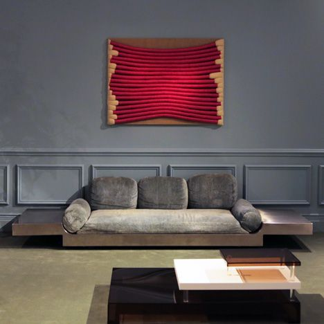 LOve The Metal Sofa By Maria Pergay Interior Presented Demisch Danant At Design Miami