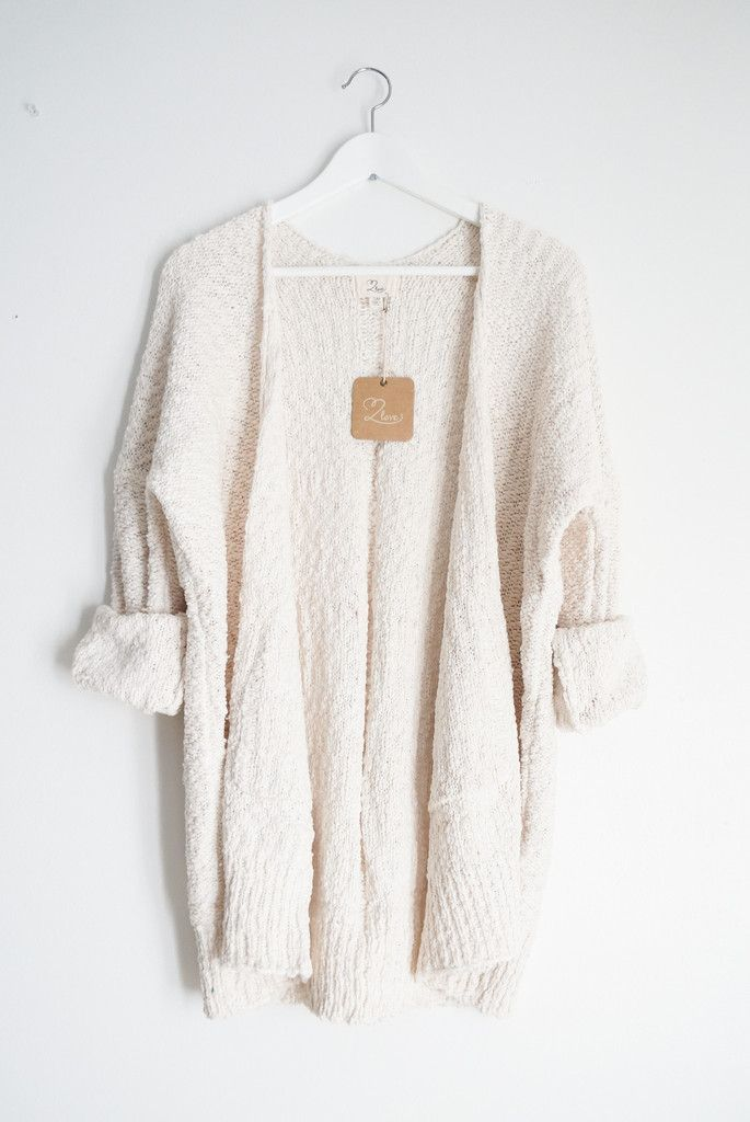 "- Super soft sweater knitted cardigan - Available in one size only - Boxy silhouette - Best fits S/M for a loose/slouchy fit - Measures approx. 35"" in length - 70% Acrylic 27% Nylon 3% Spandex - Impor"