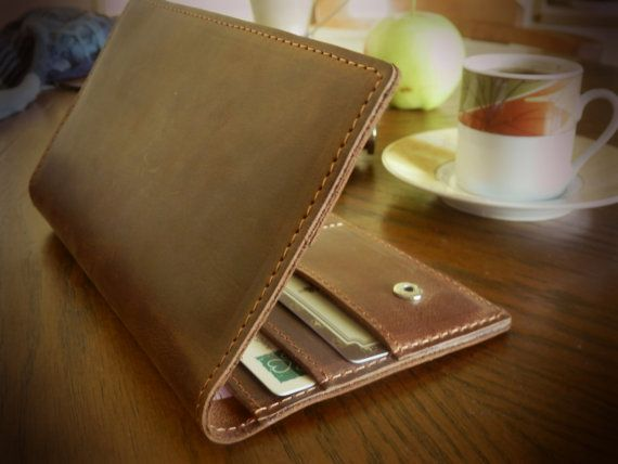Handmade leather wallet  Leather wallet clutch  FREE by Babak1995