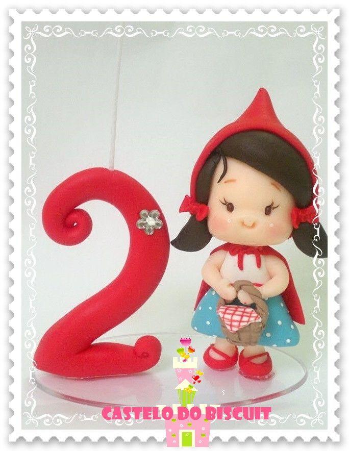 Topo de bolo Chapeuzinho http://www.elo7.com.br/chapeuzinho-vermelho-com-vela/dp/54585A