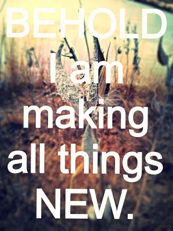 Behold I Am Making All Things New. Revelation 21 Bible