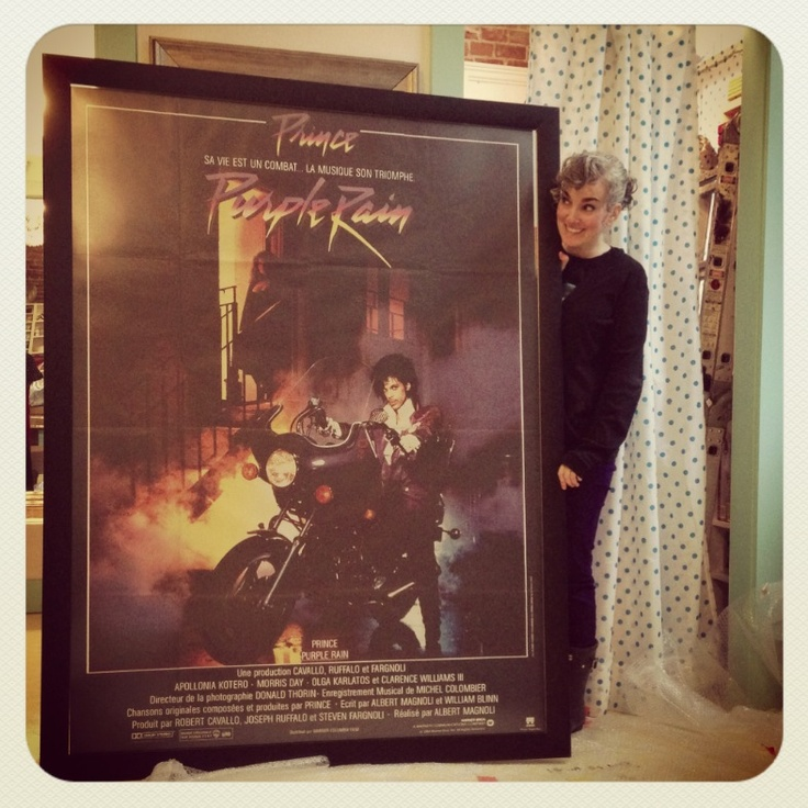 Sarah Kramer Owner of Sarah's Place sent us this picture of a custom frame we did for her. We can make a frame for any size poster you have. Just contact us with the size. Really love this shot! Thanks Sarah for sending in your photo, it really did turn out Great! #sarahsplace #Prince #purplerainmovieposter #sarahkramer