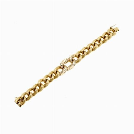 BRACCIALE, VAN CLEEF & ARPELS, AMERICA - oro giallo e diamanti #2 ASTA ONLINE Gioielli del Novecento - Lotto n.45 #VANCLEEF&ARPELS #usa #america #bracelet #diamonds #gold #golden #luxury #chain #link #auction
