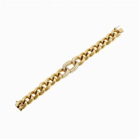 BRACCIALE, VAN CLEEF & ARPELS, AMERICA - oro giallo e diamanti #2 ASTA ONLINE Gioielli del Novecento - Lotto n.45 #VANCLEEF&ARPELS #usa #america #bracelet #diamonds #gold #golden #luxury #chain #link #auction